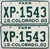 1960 Colorado Farm Truck pair # XP-1543, Lincoln County
