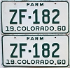 1960 Colorado Farm Truck pair #ZF-182, Ouray County