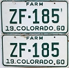 1960 Colorado Farm Truck pair #ZF-185, Ouray County