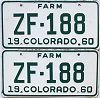 1960 Colorado Farm Truck pair #ZF-188, Ouray County