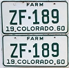 1960 Colorado Farm Truck pair #ZF-189, Ouray County