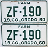 1960 Colorado Farm Truck pair #ZF-190, Ouray County