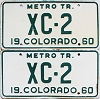 1960 Colorado Metro Tractor pair # XC-2, Bent County