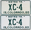 1960 Colorado Metro Tractor pair # XC-4, Bent County