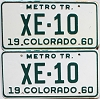 1960 Colorado Metro Tractor pair # XE-10, Alamosa County