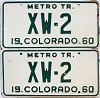 1960 Colorado Metro Tractor pair # XW-2, Crowley County