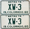 1960 Colorado Metro Tractor pair # XW-3, Crowley County