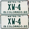 1960 Colorado Metro Tractor pair # XW-4, Crowley County