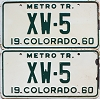 1960 Colorado Metro Tractor pair # XW-5, Crowley County