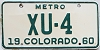 1960 Colorado Metro low # XU-4, Saguache County