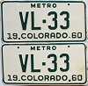 1960 Colorado Metro pair # VL-33, Delta County