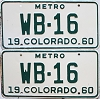 1960 Colorado Metro pair #WB-16, Montrose County