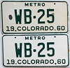 1960 Colorado Metro pair # WB-25, Montrose County