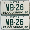 1960 Colorado Metro pair # WB-26, Montrose County