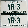 1960 Colorado Metro pair # YR-3, Cheyenne County