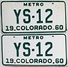 1960 Colorado Metro pair # YS-12, Douglas County