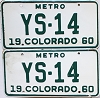 1960 Colorado Metro pair #YS-14, Douglas County