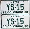 1960 Colorado Metro pair #YS-15, Douglas County