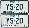 1960 Colorado Metro pair #YS-20, Douglas County
