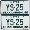 1960 Colorado Metro pair #YS-25, Douglas County