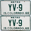 1960 Colorado Metro pair #YV-9, Rio Blanco County
