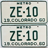 1960 Colorado Metro pair # ZE-10, San Juan County