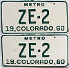 1960 Colorado Metro pair # ZE-2, San Juan County