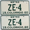 1960 Colorado Metro pair # ZE-4, San Juan County