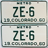 1960 Colorado Metro pair # ZE-6, San Juan County