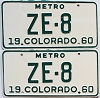 1960 Colorado Metro pair # ZE-8, San Juan County