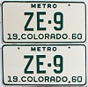 1960 Colorado Metro pair # ZE-9, San Juan County