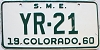 1960 Colorado Special Mobile Equipment #YR-21, Eagle County