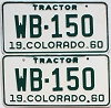1960 Colorado Tractor pair # WB-150, Montrose County