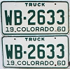 1960 Colorado Truck pair #WB-2633, Montrose County