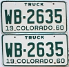 1960 Colorado Truck pair #WB-2635, Montrose County