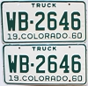 1960 Colorado Truck pair #WB-2646, Montrose County