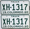 1960 Colorado Truck pair #XH-1317, Chaffee County