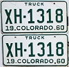 1960 Colorado Truck pair #XH-1318, Chaffee County