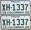 1960 Colorado Truck pair #XH-1337, Chaffee County