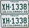 1960 Colorado Truck pair #XH-1338, Chaffee County