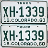 1960 Colorado Truck pair #XH-1339, Chaffee County