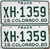 1960 Colorado Truck pair #XH-1359, Chaffee County