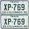 1960 Colorado Truck pair #XP-769, Lincoln County