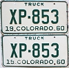 1960 Colorado Truck pair #XP-853, Lincoln County