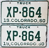 1960 Colorado Truck pair #XP-864, Lincoln County