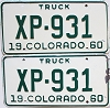 1960 Colorado Truck pair #XP-931, Lincoln County