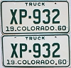 1960 Colorado Truck pair #XP-932, Lincoln County