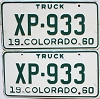 1960 Colorado Truck pair #XP-933, Lincoln County