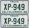 1960 Colorado Truck pair #XP-949, Lincoln County
