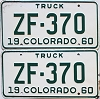 1960 Colorado Truck pair #ZF-370, Ouray County